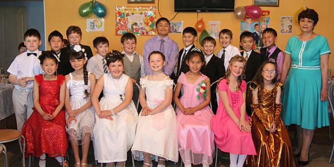 Выпускной 4 -Б-класса Петропавловской районной гимназии 2014