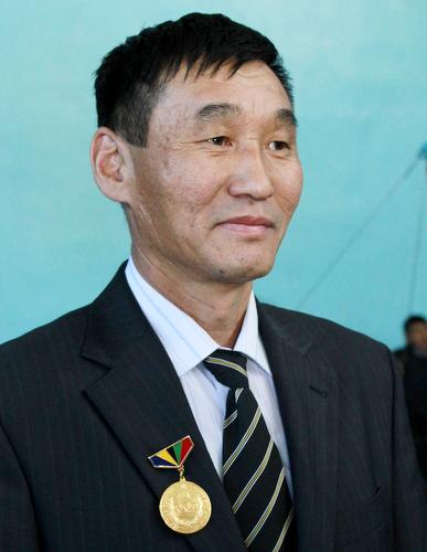 Жаргал Тасарунов с монгольской наградой