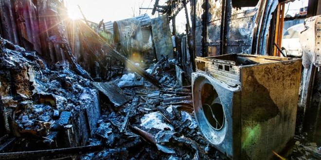 Женщина погибла при пожаре двухквартирного дома в с.Петропавловка.