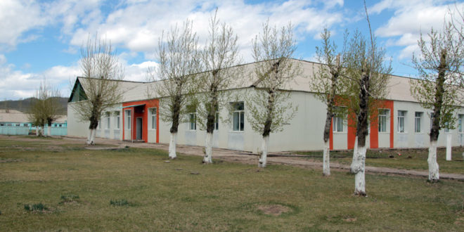 В спортзале всего +10. Петропавловская районная гимназия.