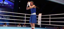 Людмила Воронцова в финале чемпионата мира по боксу 2019.