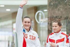 Наша спортсменка и землячка в сборной команде России.